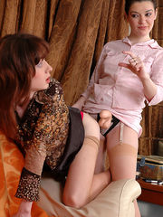 Strapon Sissies Frisky babe makes up a sissy before getting down to strap-on ass-pounding